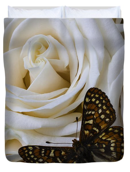 Brown Spotted Butterfly Duvet Cover