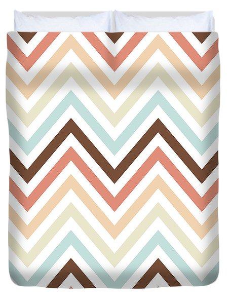Brown Tan Chevron Pattern Duvet Cover