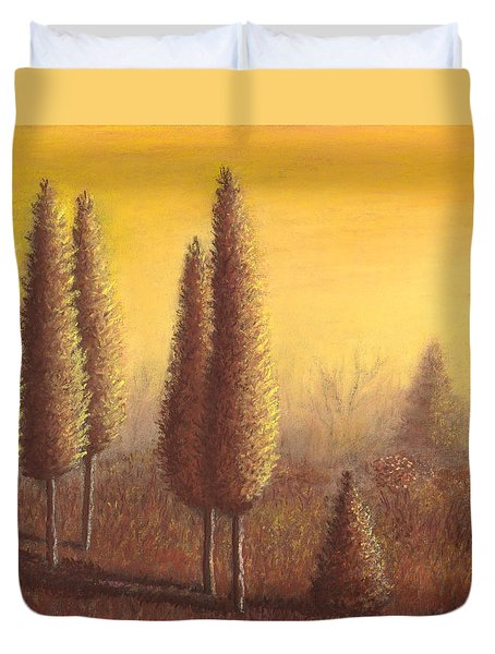 Brown Trees 01 Duvet Cover