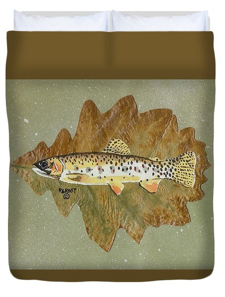 Brown Trout Duvet Cover by Ralph Root