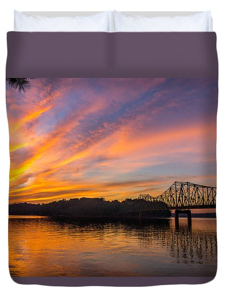 Browns Bridge Sunset Duvet Cover