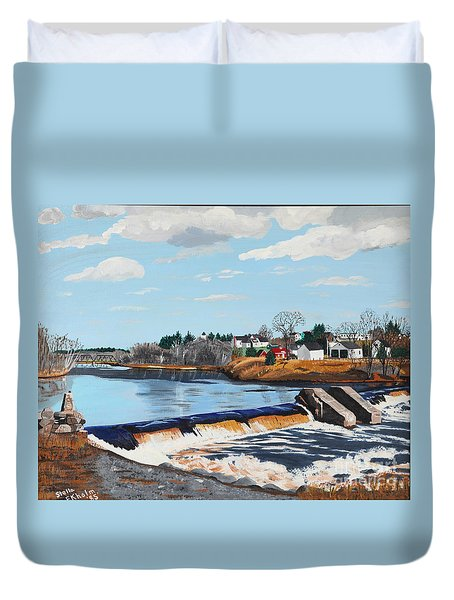 Brownville Village Dam Duvet Cover