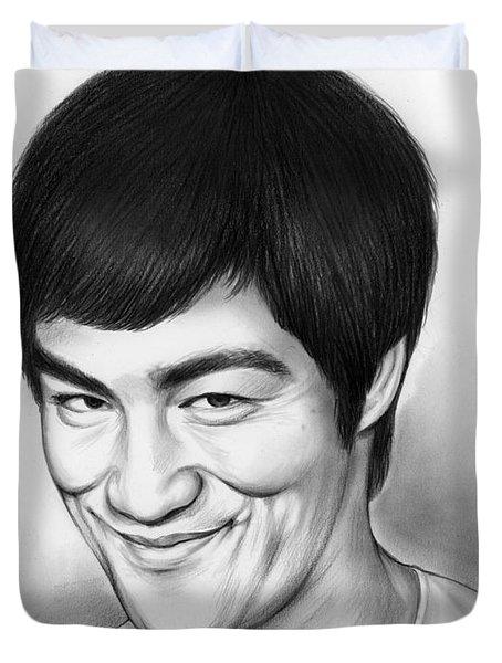 Bruce Lee Duvet Cover by Greg Joens