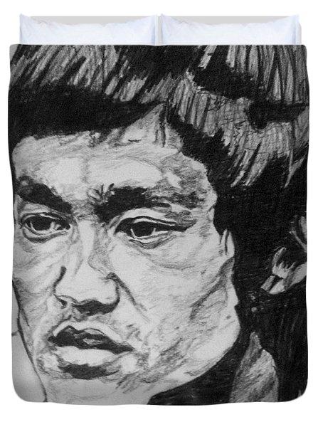 Bruce Lee Duvet Cover by Rachel Natalie Rawlins