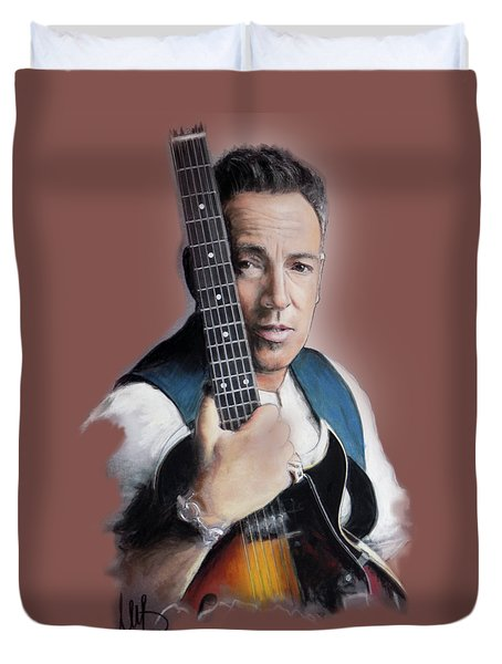 Bruce Springsteen Duvet Cover by Melanie D