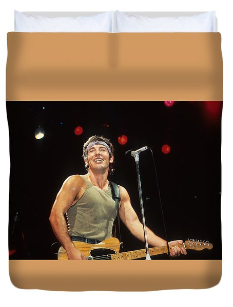 Bruce Springsteen Duvet Cover by Rich Fuscia