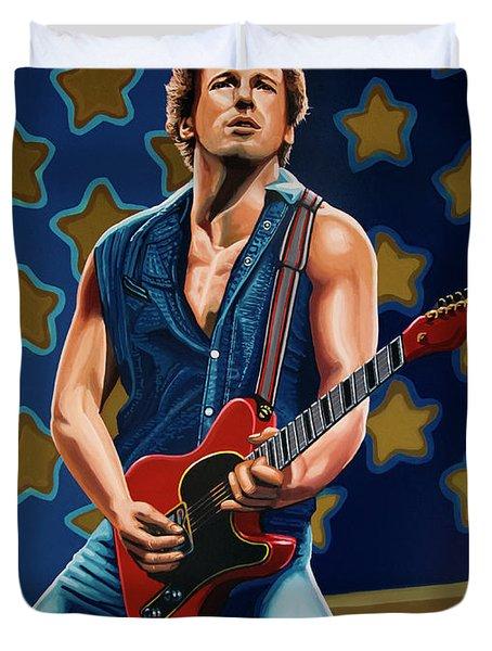 Bruce Springsteen The Boss Painting Duvet Cover