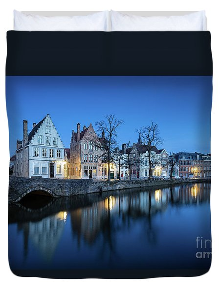 Magical Brugge Duvet Cover by JR Photography
