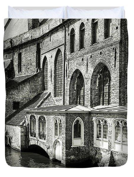 Bruges Medieval Architecture Duvet Cover
