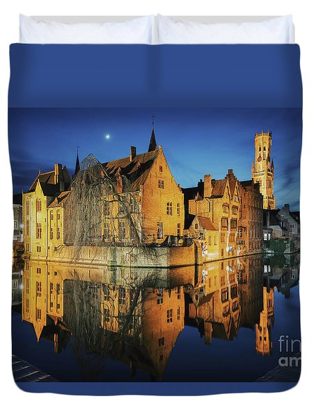 Brugge Duvet Cover by JR Photography