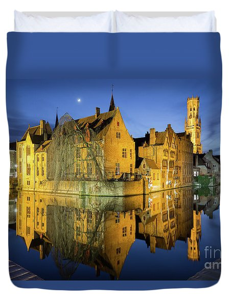 Brugge Twilight Duvet Cover by JR Photography
