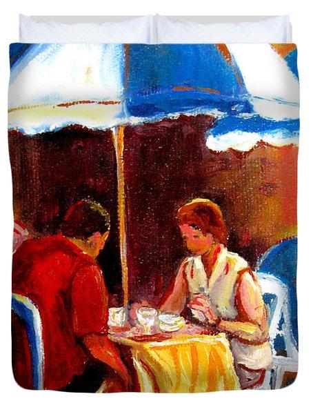 Brunch At The Ritz Duvet Cover by Carole Spandau