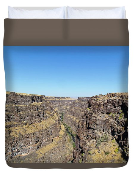 Bruneau Canyon Overlook, Idaho Duvet Cover