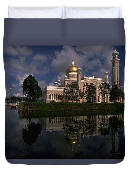 Brunei Mosque Duvet Cover