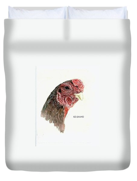 Bruno The Ko Shamo Rooster Duvet Cover