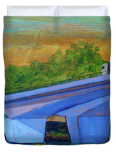 Brunswick River Bridge Duvet Cover