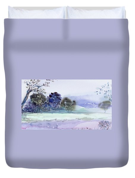 Bruny Island At Dusk Duvet Cover