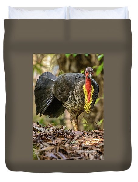 Brush Turkey Duvet Cover