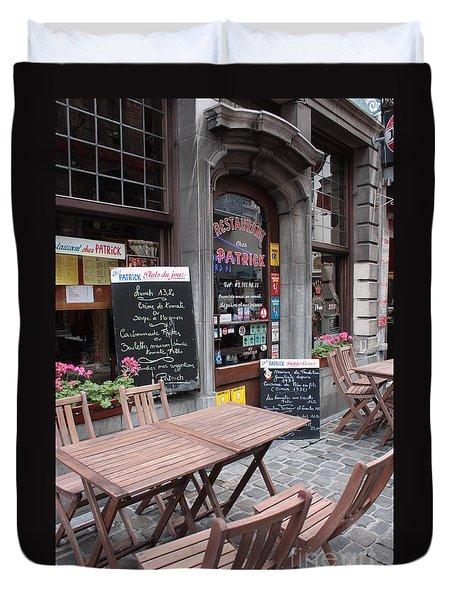 Brussels - Restaurant Chez Patrick Duvet Cover