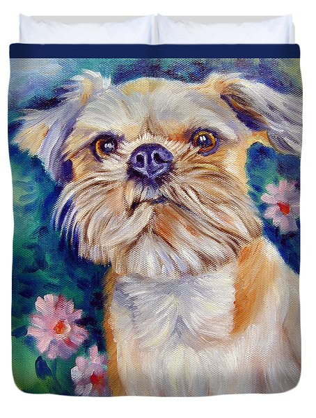 Brussels Griffon Duvet Cover by Lyn Cook