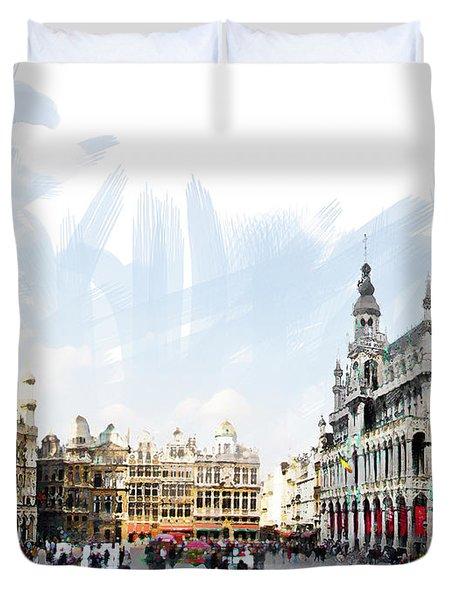 Brussels Grote Markt  Duvet Cover