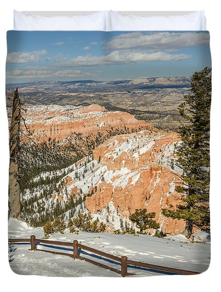 Bryce Amphitheater From Bryce Point Duvet Cover