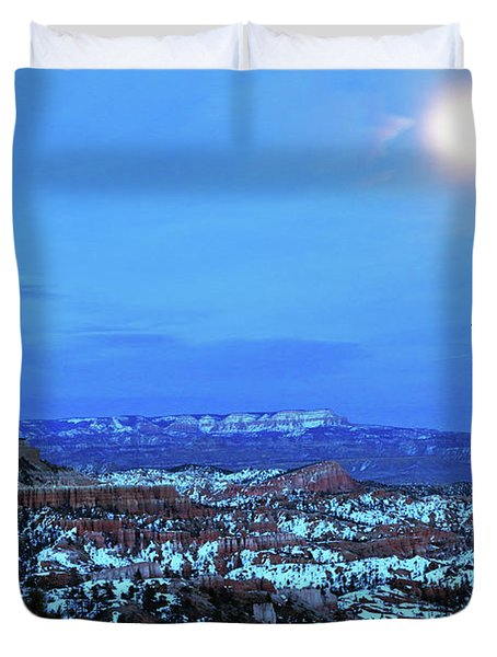 Bryce Blue Duvet Cover