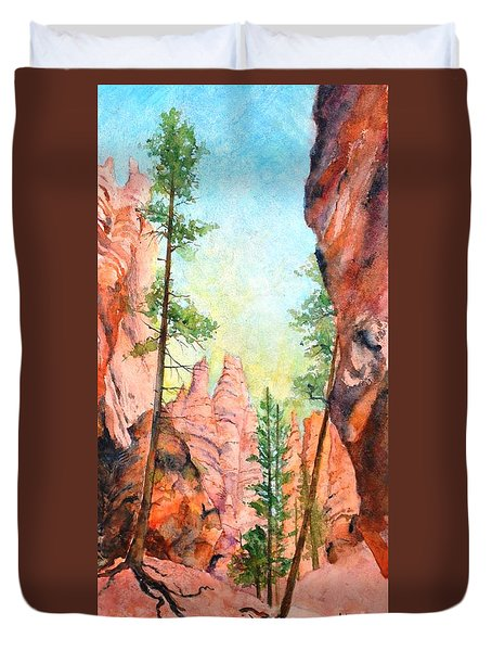 Bryce Canyon #2 Duvet Cover by Betty M M Wong
