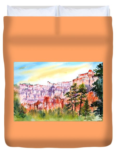 Bryce Canyon #3 Duvet Cover by Betty M M Wong