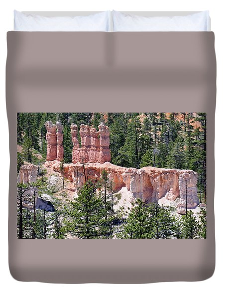 Duvet Cover featuring the photograph Bryce Canyon Backcountry by Bruce Gourley