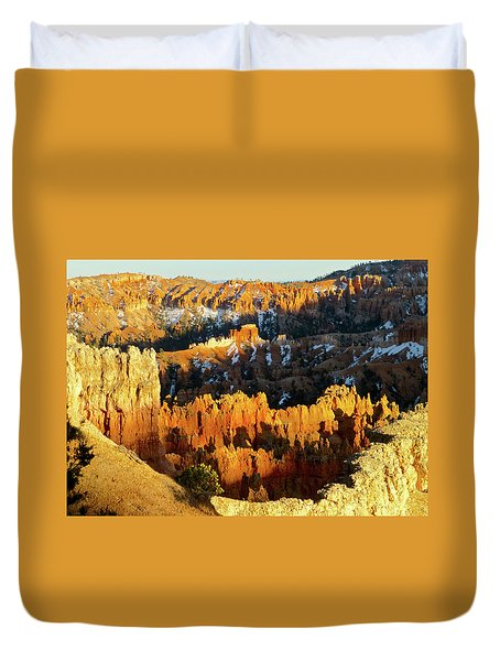 Bryce Canyon Hoodoos Evening Duvet Cover by Amelia Racca