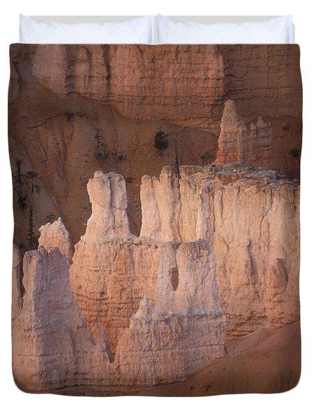 Bryce Canyon Hoodoos Duvet Cover by Sandra Bronstein