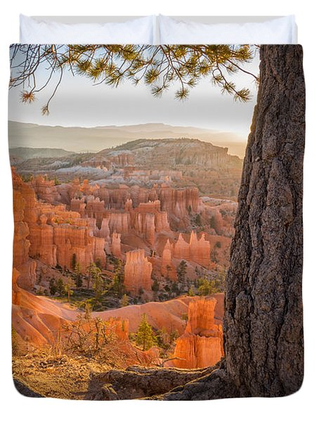 Bryce Canyon National Park Sunrise 2 - Utah Duvet Cover by Brian Harig