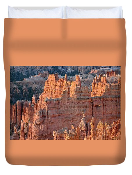 Duvet Cover featuring the photograph Bryce Canyon Sunrise 2016a by Bruce Gourley