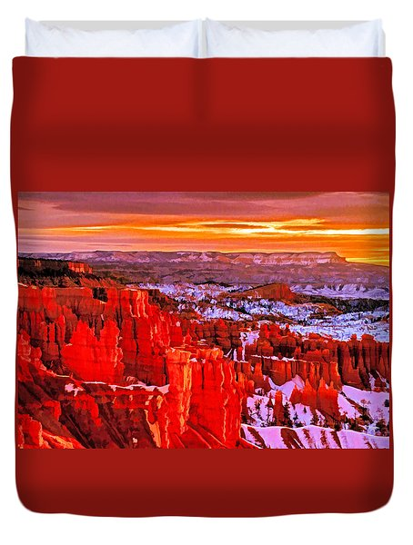 Bryce Dawn Duvet Cover