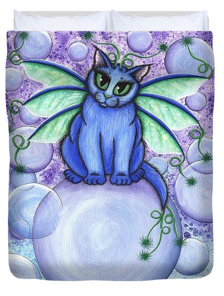 Bubble Fairy Cat Duvet Cover
