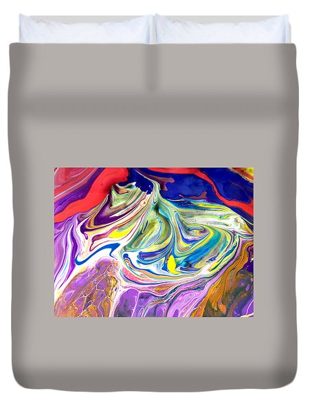 Bubble Gum Ice Cream Duvet Cover