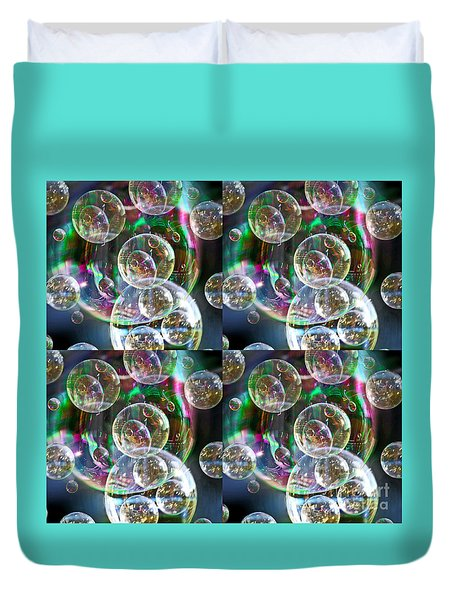 Duvet Cover featuring the photograph Bubble Time by Nareeta Martin