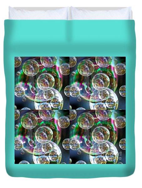 Bubble Time Duvet Cover by Nareeta Martin