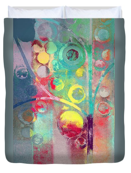 Duvet Cover featuring the painting Bubble Tree - 285l by Variance Collections