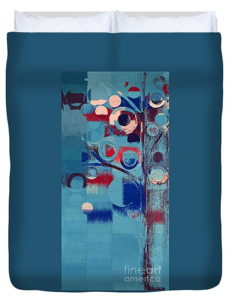 Duvet Cover featuring the painting Bubble Tree - 85e-j4 by Variance Collections
