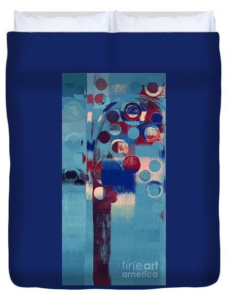 Duvet Cover featuring the painting Bubble Tree - 85l-j4 by Variance Collections