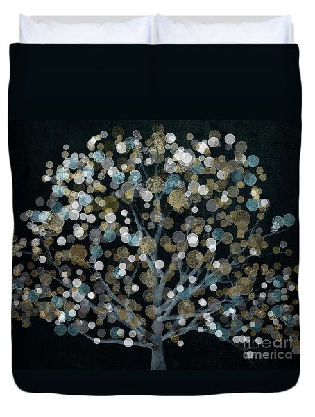 Bubble Tree Night Duvet Cover by Mindy Sommers