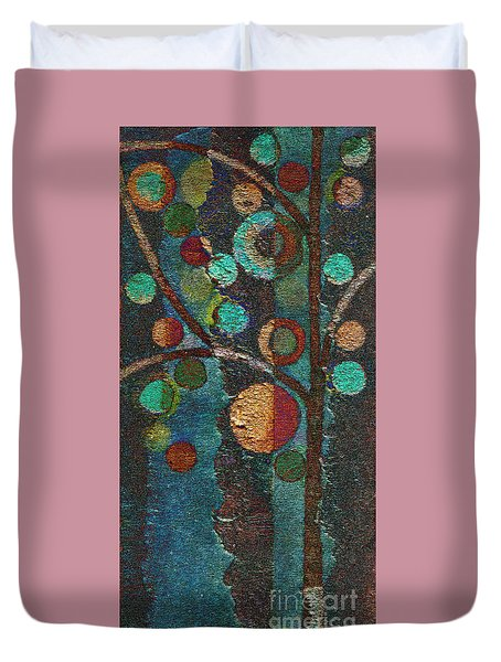 Bubble Tree - Spc02bt05 - Left Duvet Cover by Variance Collections