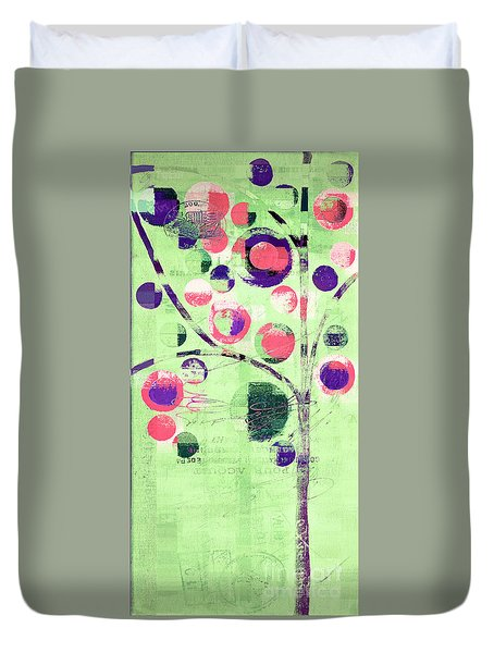 Duvet Cover featuring the digital art Bubble Tree - 224c33j5l by Variance Collections
