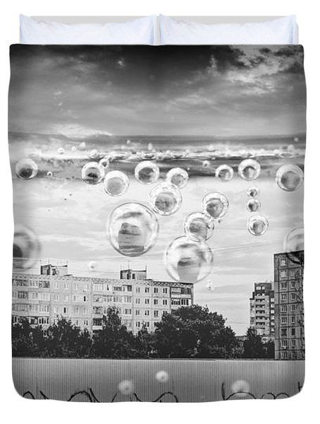 Bubbles And The City Duvet Cover