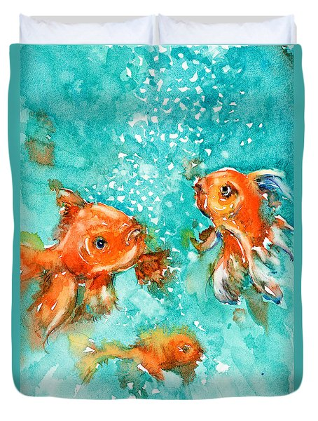 Bubbles Duvet Cover by Judith Levins