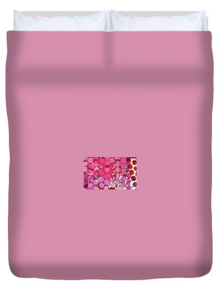 Duvet Cover featuring the mixed media Bubbles by Mary Ellen Frazee