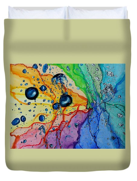 Bubbles Duvet Cover by Raymond Perez
