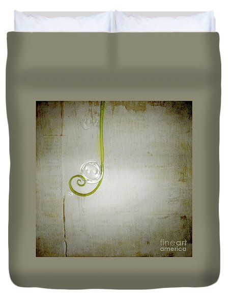 Duvet Cover featuring the digital art Bubbling - 02tt04a by Variance Collections